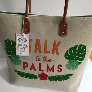 Talk to the Palms oversized tote.  NWT